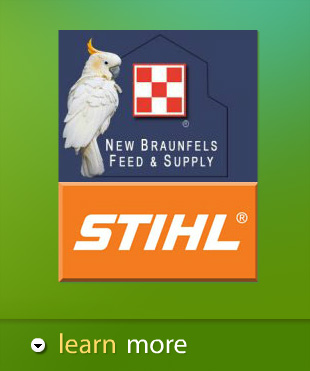 Central Texas feed store and pet store and Stihl distributor