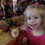 Anna is 2.5  & the chick is a baby