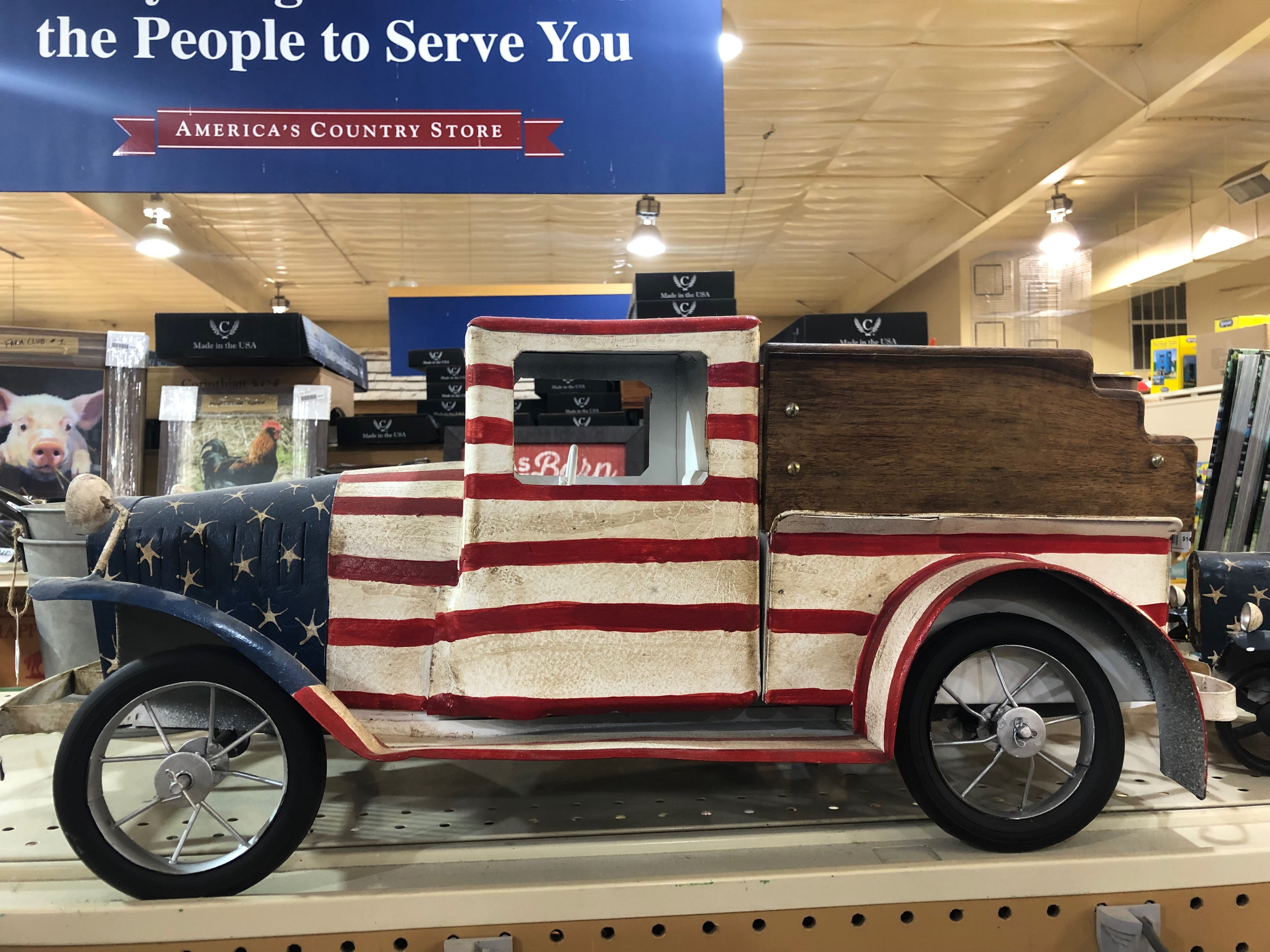 Valentine's Day Gifts: Red, White, and Blue Decorative Truck