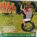 bull riden tire swing
