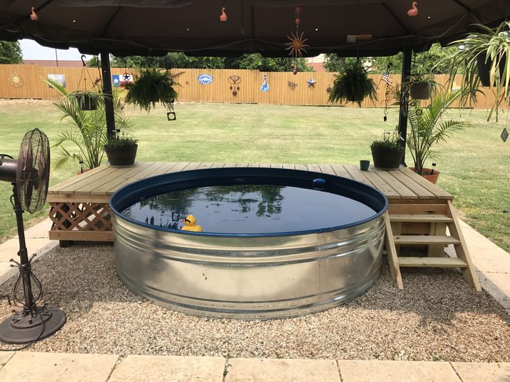 Stock tank pool beat the heat this summer new for Affordable pools and supplies