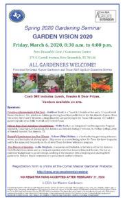 comal county garden seminar